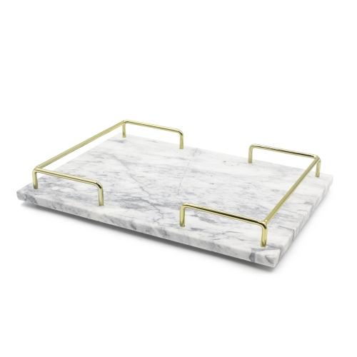 Marble Metal Serving Tray